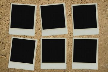 Polaroid photo on clay