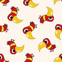 bird cartoon , cartoon seamless pattern background