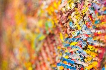 Closeup of Abstract Art Brush Strokes