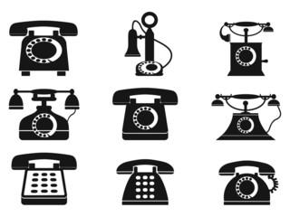 vintage telephone icons