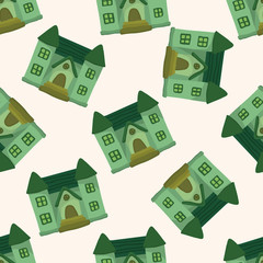 Building house , cartoon seamless pattern background