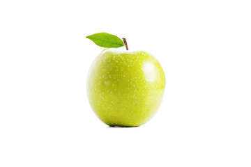 Fresh Green Apple, Isolated on White Background