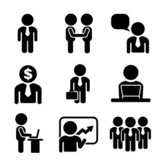Business and Office People Icon Set
