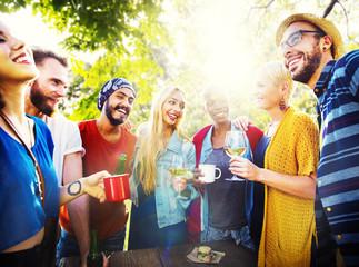 Friend Celebrate Party Picnic Joyful Lifestyle Drinking Concept