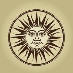 Vintage retro sun seal