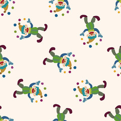 clowns , cartoon seamless pattern background