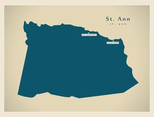 Modern Map - St. Ann JM