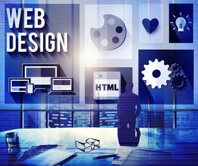 Web Design Layout Homepage Idea Design Software Concept