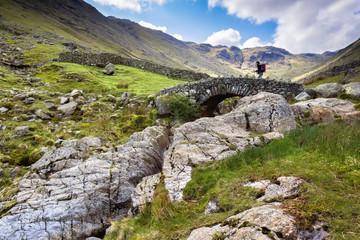 Hiker on Stockley Bridge