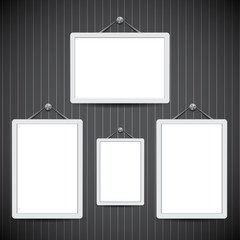 Picture frame vector. Photo art gallery.