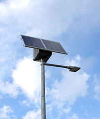 innovative solar Street lamp and clear sky