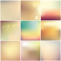 soft blurred abstract background set collection- subtle warm colors