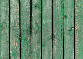 the surface of the old green wooden  background