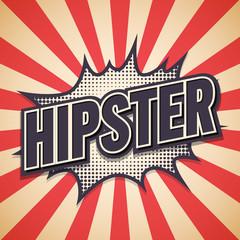 Hipster Graffiti. Comic Speech Bubble. Vector illustration