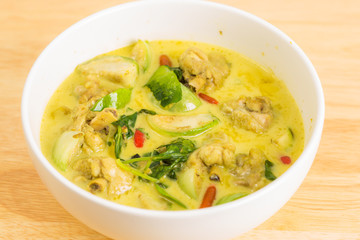 Thai green curry.