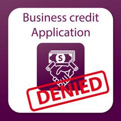 business credit application denied