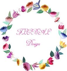 Design floral wreath