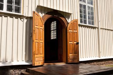 Entrance of Svedasai Church