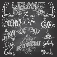Cafe chalkboard hand-lettering