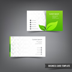 Business Card template set  026 Green clean and clear style