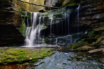 Wall Mural - Moss Covered Waterfall in Autumn