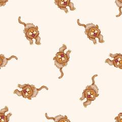 animal cartoon , cartoon seamless pattern background