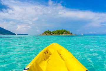 In front of kayaking in sea at Lipe island