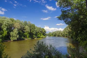 Maros River in Hungary