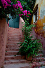 Streets of old town at Chania , Crete