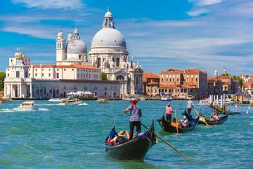 Poster Gondolas Gondolas on Canal Grande in Venice, Italy