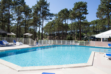 Swimming pool on summertime during holidays