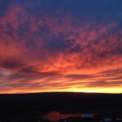 epic sunset over eastern washington