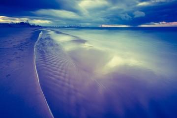 Vintage photo of Baltic sea shore seascape