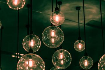 Retro light bulb decor.