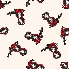 party mask , cartoon seamless pattern background