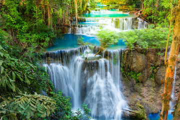 Printed roller blinds Waterfalls Beautiful waterfall in deep forest of Thailand.