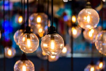 Retro light bulb interior decor.