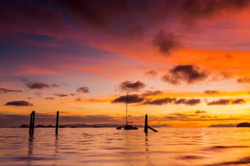 Fastastic sunrise in Lipe island, Thailand.