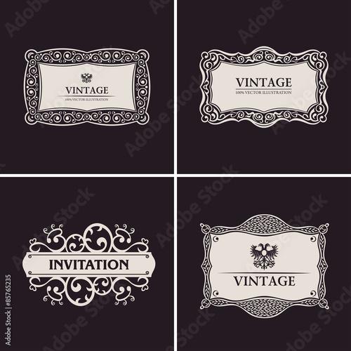 Label vector frames elegant border set vintage banner design label vector frames elegant border set vintage banner design stopboris Image collections