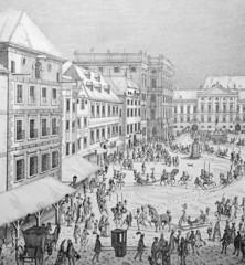Wien, Neuer Markt um 1719, Kupferstich