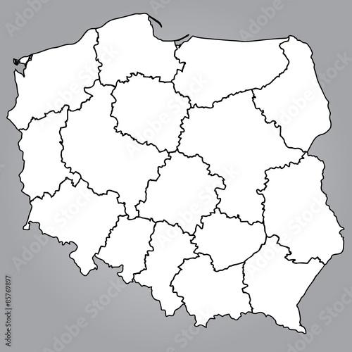Mapa Polski Województwa Obrazów Stockowych I Plików Wektorowych
