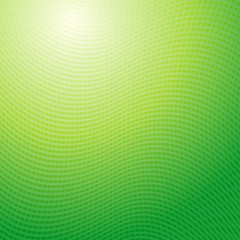 Vector design pattern. Green waves abstract light background