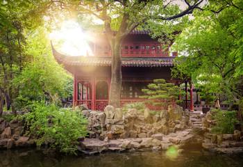famous Yu Yuan Garden, Shanghai (China)