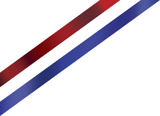 Ribbon in red white blue colors