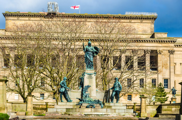Monument to the King's Liverpool Regiment - England