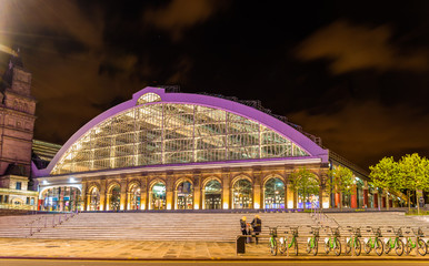 Liverpool Lime Street Train Station at night - England