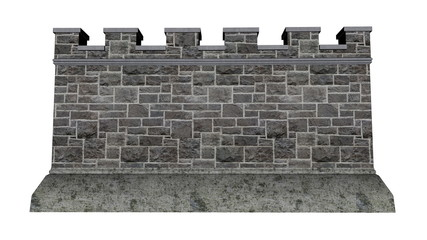 Castle wall - 3D render
