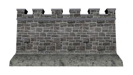 Castle wall - 3D render