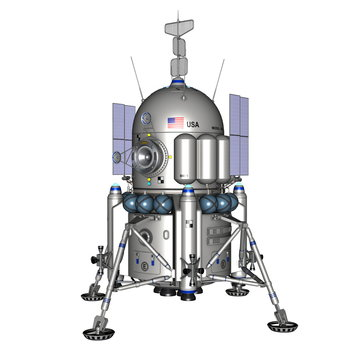 America lander - 3D render