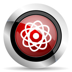 atom red glossy web icon